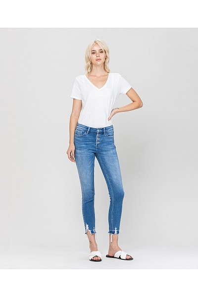 MID-RISE CROP SKINNY WITH EXPOSED B...