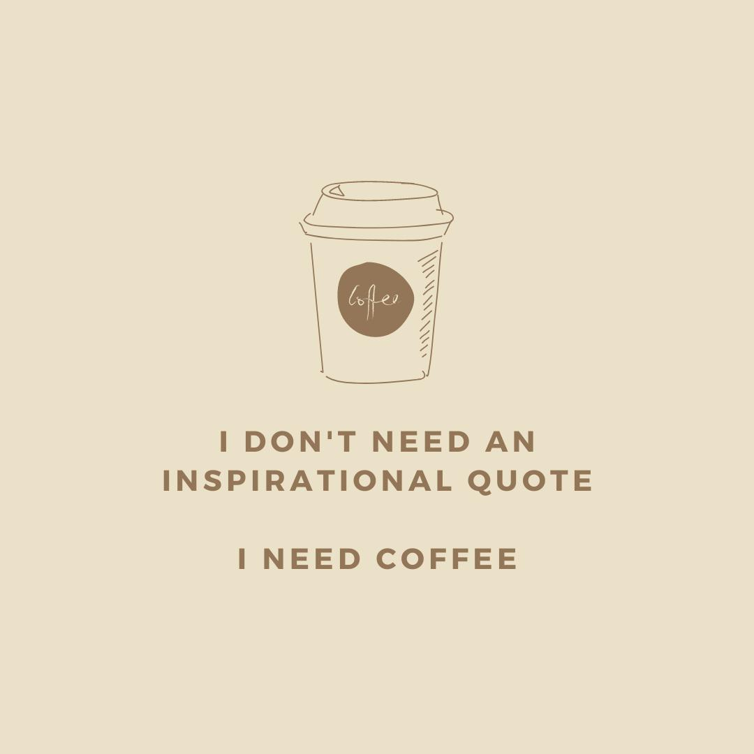 Coffee or quote? <br /> ☕ <br /> #vervet